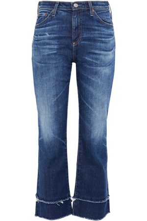 AG Jeans Woman Faded Mid-rise Kick-flare Jeans Mid Denim Size 23