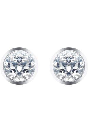 Goldsmiths Women Earrings - Silver & Diamond 0.10ct Besel Stud Earrings
