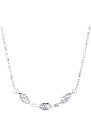 GOLDSMITHS Silver & Diamond 0.10ct Flutter Necklace