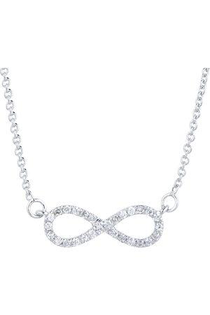 Goldsmiths Silver & Diamond 0.08ct Infinity Necklace