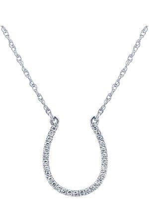 GOLDSMITHS 9ct White Gold 0.15ct Diamond Horseshoe Pendant