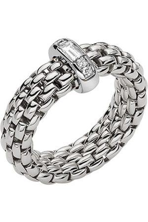 FOPE 18ct White Gold Vendome Flex'it Diamond Baguette Medium Ring