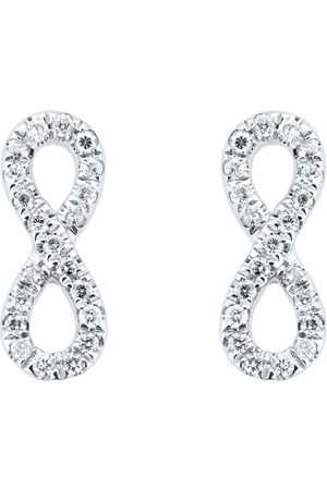 GOLDSMITHS Silver & Diamond 0.10ct infinity Stud Earrings