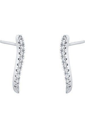 GOLDSMITHS 9ct White Gold 0.20cttw Diamond Wave Climber Earrings