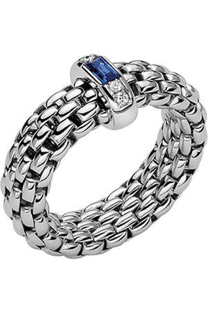 FOPE Women Rings - 18ct White Gold Vendome Flex'it Sapphire & Diamond Medium Ring