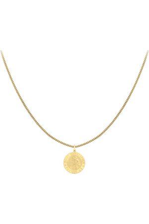 Goldsmiths 9ct Yellow Gold 24mm St Christopher Pendant, complete with a Curb Chain