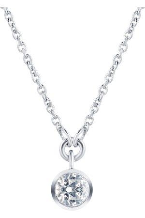 GOLDSMITHS Silver & Diamond 0.10ct Besel Pendant