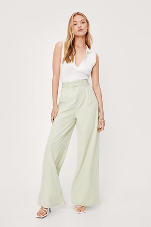 NASTY GAL Womens Oversized Tailored Wide Leg Trousers