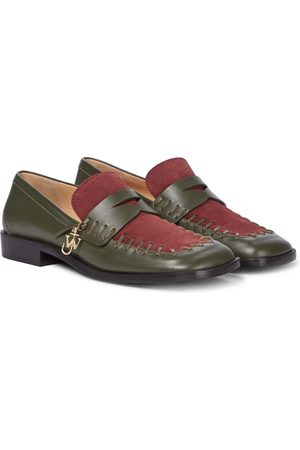 J.W.Anderson Stitch leather loafers