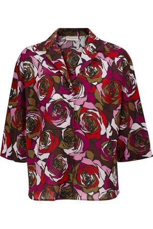 DRIES VAN NOTEN Floral cotton shirt