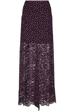 Paco rabanne Printed lace maxi skirt