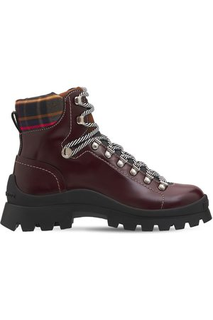 Dsquared2 Men Outdoor Shoes - Brushed Leather Tank Hiking Boots