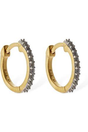 Missoma Pavé Huggie Earrings