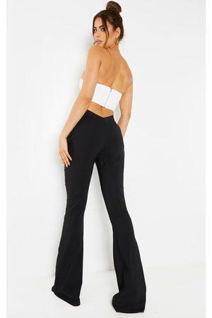 PRETTYLITTLETHING Women Bootcut - Tall Low Back Waist Wide Leg Flares