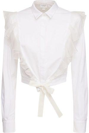 Giambattista Valli Women Shirts - Cotton Poplin Shirt W/ Ruffles