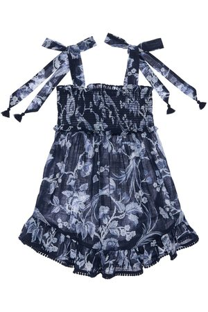 ZIMMERMANN Flower Print Cotton Jumpsuit