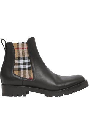 Burberry Women Chelsea Boots - Vintage Check Chelsea Boots