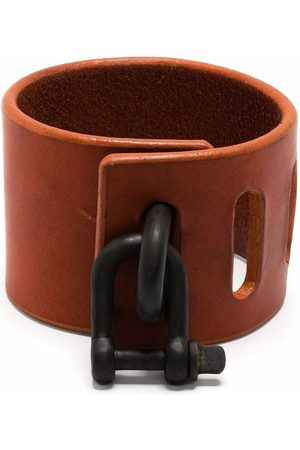PARTS OF FOUR Restraint-charm leather bracelet