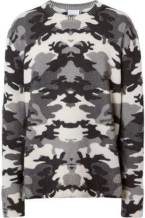 Burberry Men Sweatshirts - Camouflage-print knit jumper