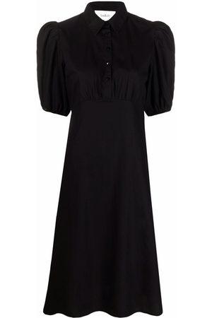 Bash Women Casual Dresses - Short puff sleeves shirt dress
