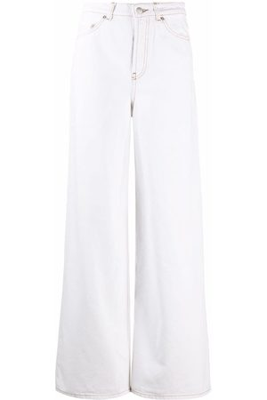 Bash Women Wide Leg Trousers - High-waisted flared trousers - Neutrals