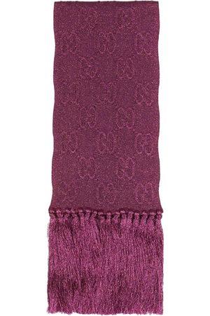 Gucci Men Scarves - Lamé jacquard knit scarf