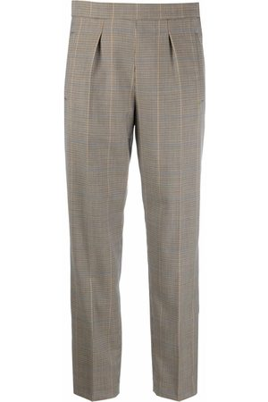 A.P.C. Women Trousers - Checked tailored trousers - Neutrals