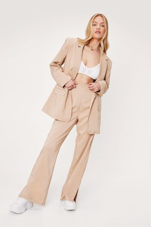 NASTY GAL Womens Love Suits You Slit Tailored Wide-Leg Trousers