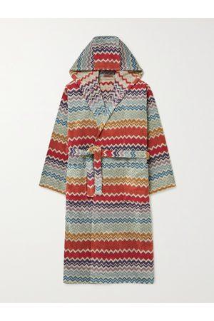 Missoni Men Bathrobes - Rufus Cotton-Terry Jacquard Hooded Robe