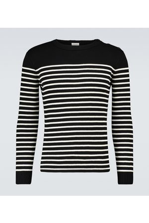Saint Laurent Men Jumpers - Cotton and wool striped sweater