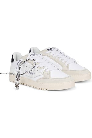 OFF-WHITE 5.0 suede-trimmed sneakers