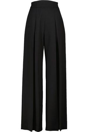 Alaïa Women Wide Leg Trousers - High-rise flared cotton pants