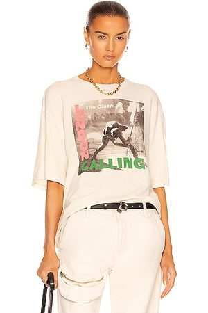 R13 Clash London Calling Oversize Tee in Dirty