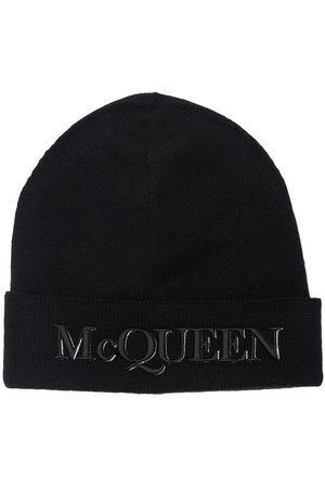 Alexander McQueen Logo Cashmere & Wool Beanie
