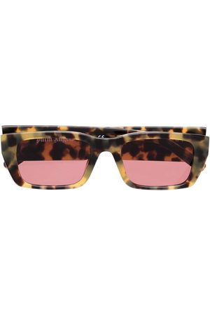 Palm Angels Rectangle Frame Sunglasses Tortoise