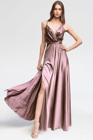 Angelika Jozefczyk Lilla Satin Long Dress