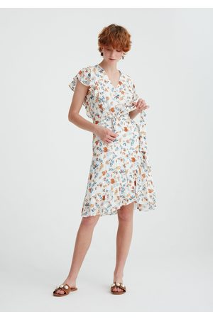 Paisie Frill Wrap Dress