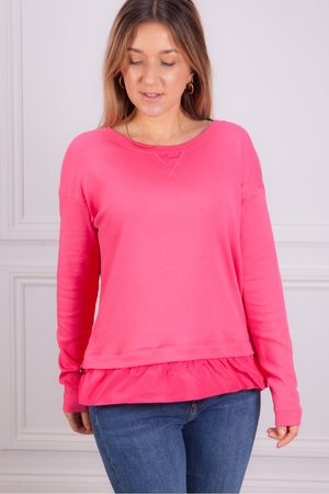 Marc Cain Sweat with Frill Trim in Begonia