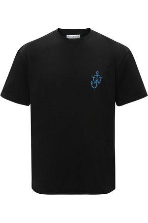 J.W.Anderson Men Short Sleeve - JW ANDERSON Anchor Logo T-Shirt Black