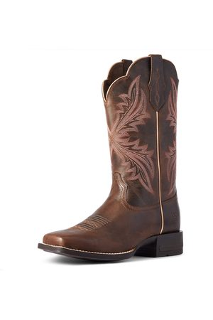 Ariat Women Cowboy Boots - Women's West Bound Western Boots in Sassy Leather