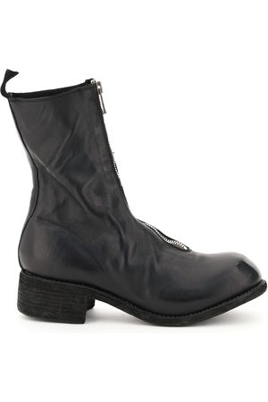 GUIDI FRONT ZIP LEATHER ANKLE BOOTS 35 Leather