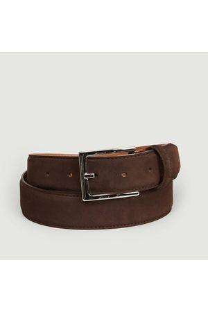 MAISON BOINET Nubuck leather belt 35 mm