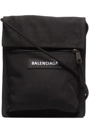 Balenciaga Logo explorer messenger bag black