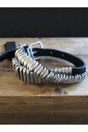 Goti 925 and leather bracelet BR109