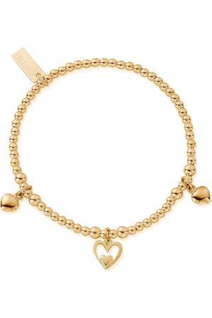 ChloBo Cute Charm Triple Heart Bracelet
