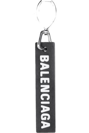 Balenciaga Rubber Tag Earring /Silver
