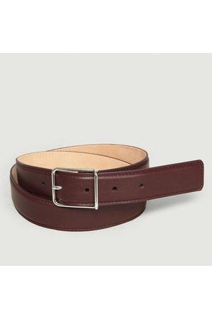 MAISON BOINET Leather Belt Plum