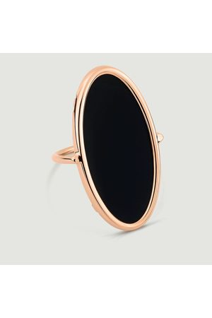 GINETTE NY Onyx Ellipse Ring Pink