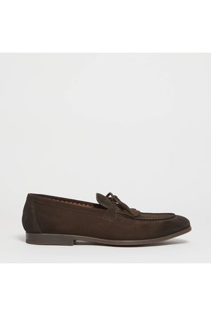 Doucal's Moccasin Suede Dark With Fringe