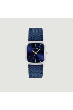 Laps Nova braided fabric watch Perlon bleu cobalt